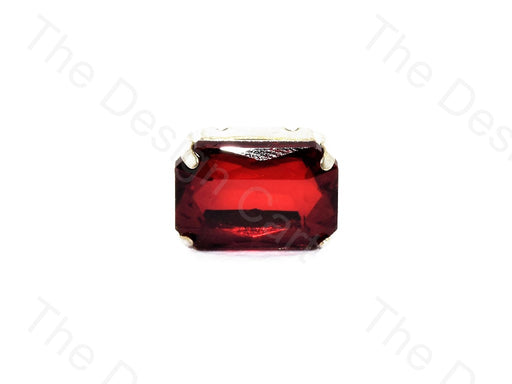 Dark Red Rectangle Glass Stone With Catcher