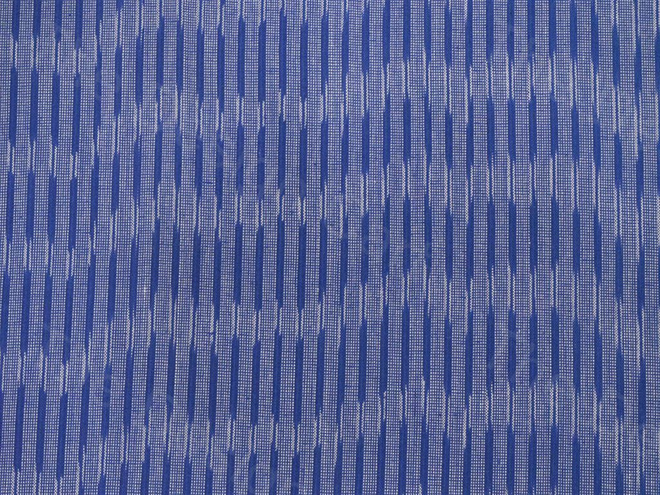 Blue Gray Dashes Design Ikat Cotton Fabric
