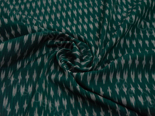 Green Voile Cotton Ikat Fabric