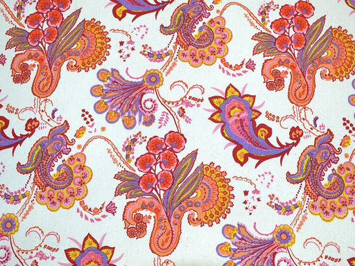 Multicolour paisley Floral Cotton Canvas Fabric