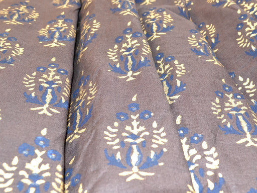 Brown Booti Design Cotton Fabric
