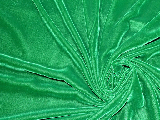 Dark Green Plain Velvet Fabric