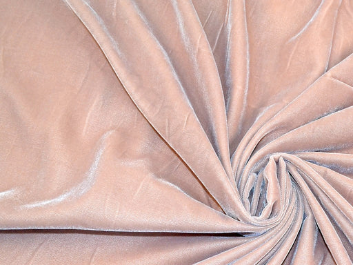 Pastel Brown Plain Velvet Fabric