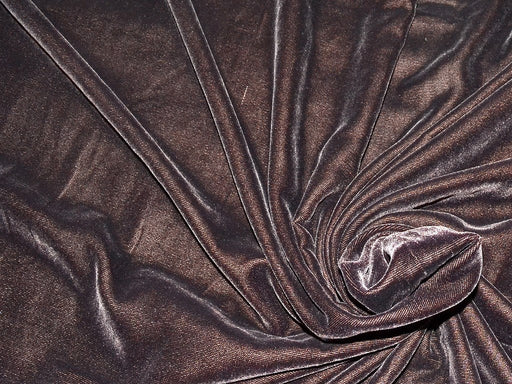 Dark Brown Plain Velvet Desin Fabric