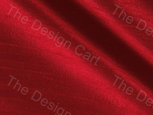 Red Dupion Silk Fabric