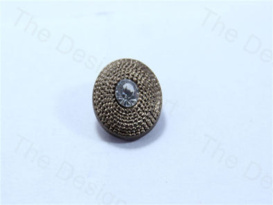 Bronze Round Center Stone Design Acrylic Buttons