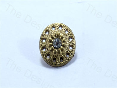 Golden Round Multiholes Design Acrylic Buttons