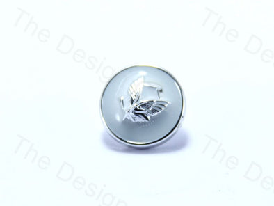 White Round Wings Design Designer Suit Buttons