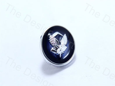 Blue Round Wings Design Designer Suit Buttons