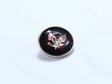 Dark Red Round Wings Design Designer Suit Buttons