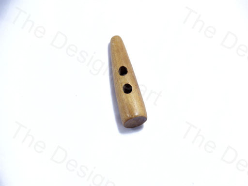 Brown Cylindrical Deign 16 Cylindrical Wooden Buttons
