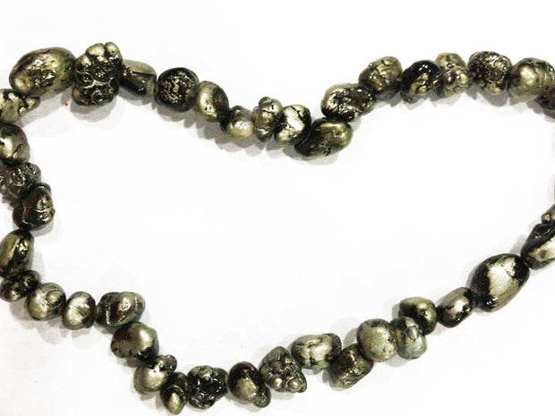 Silver Black Uneven Real Tumble Stones (4536012144709)