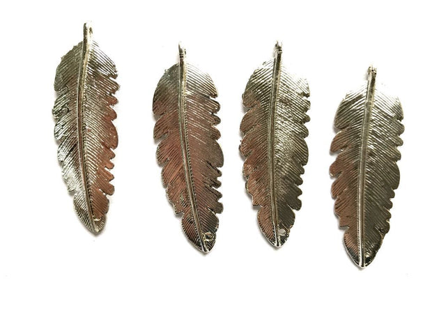 Silver Leaf Metal Piece Embellishments