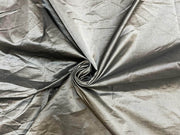 Silver Plain Mill Dyed Poly Silk Fabric