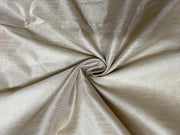 Silver Plain Semi Dyed Dupion Silk Fabric