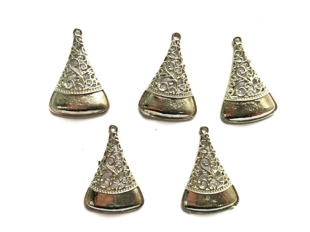 Silver Triangular Metal Piece Embellishments