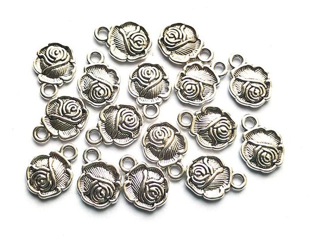 Silver Flower German Silver Charms