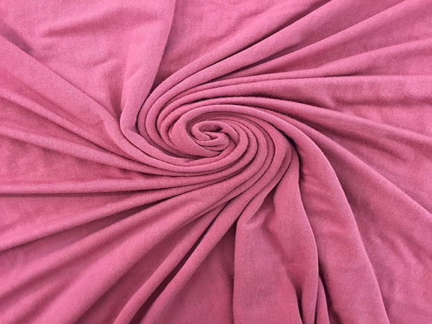 Pink Plain Viscose Lycra Fabric