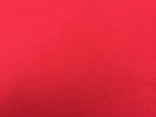Red Plain Cotton Lycra Fabric