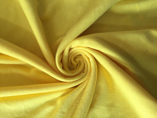 Yellow Solid Sinker Cotton Fabric