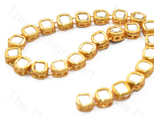 Square Shaped Meena Kundan
