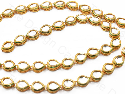Drop Shaped Meena Kundan