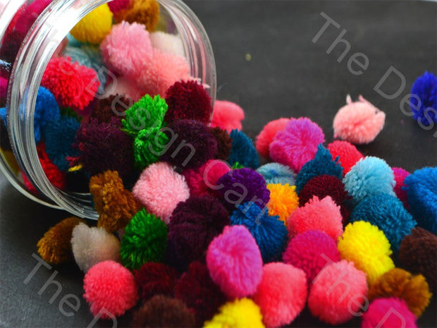 Assorted Pack of Wool Pom Poms | The Design Cart (1532202319906)