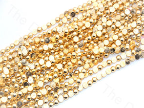 Half Cut Golden Plastic Beads