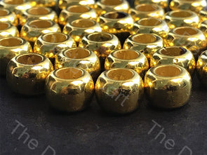 Golden Cylindrical Hole Plastic Beads