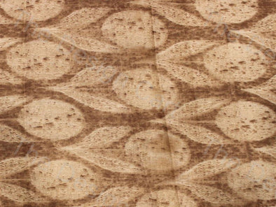 Peach Brown Cotton Buds Design Pure Cotton Fabric