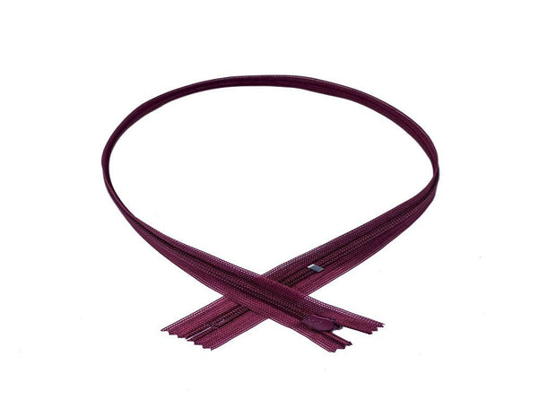 Deep Purple Concealed YKK Zip (18 Inches) (4573118595141)