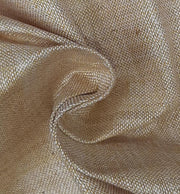 Beige White Plain Textured Handloom Cotton Fabric (4535323328581)