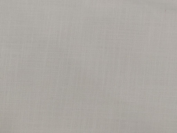 White Plain Cotton Linen Fabric