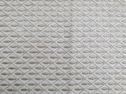 White Geometrical Fishes Embroidered Net Fabric | The Design Cart