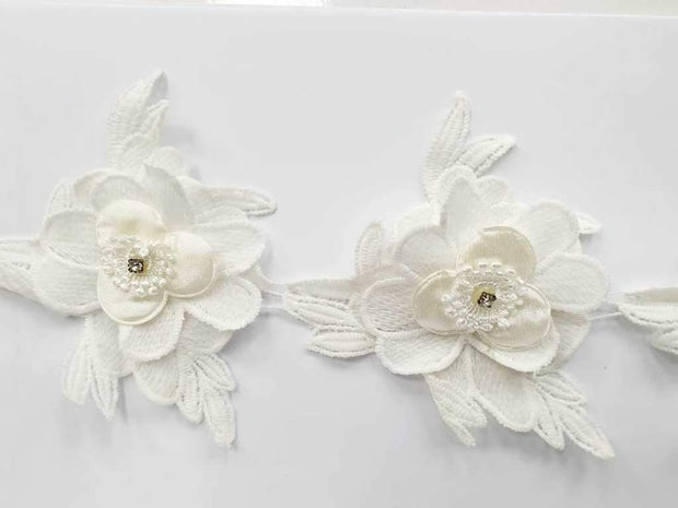 White Flower Cotton GPO Laces (5 Inches) (4566615392325)