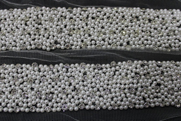White Pearls Handwork Lace | The Design Cart
