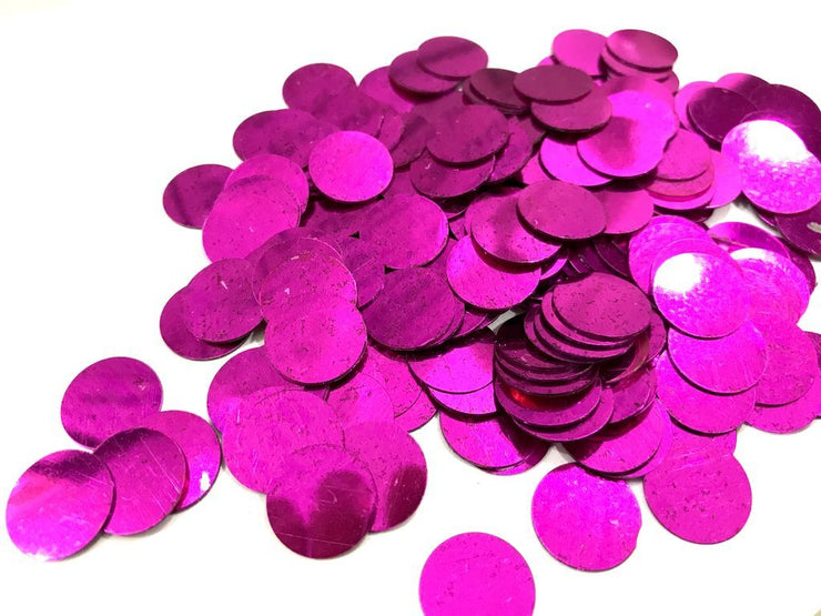 Magenta Circular Plastic Sequins (Without Hole- 13mm) (4484868014149)