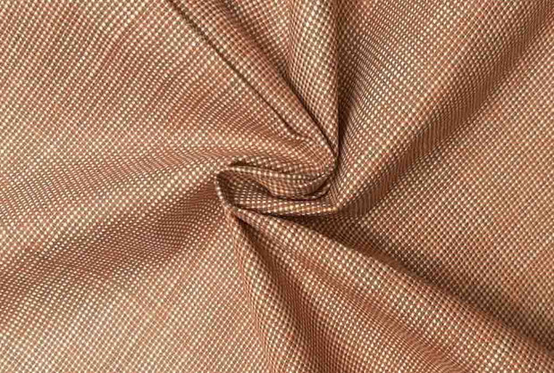 Brown Textured 4 Ply Yarn Dyed Cotton Fabric