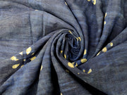Handblocked Blue Yarn Dyed Cotton Fabric | The Design Cart