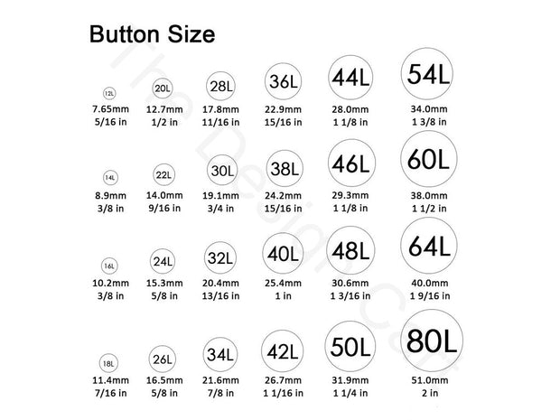 Assorted Pack Of Printed Acrylic Button