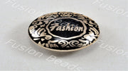 Black Fashion Metallic Finish Acrylic Button