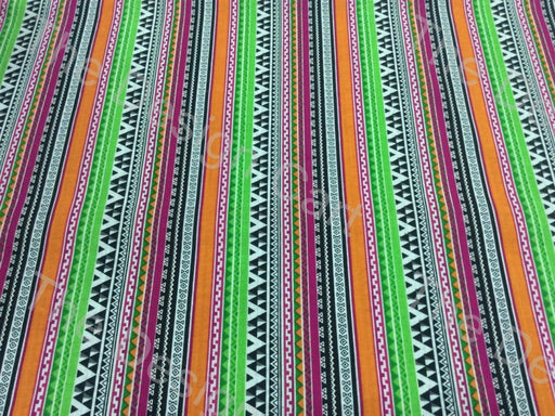 Multicolour Abstract Printed Cambric Cotton Fabric