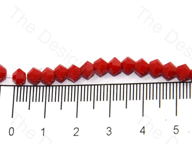 Opaque Red Bicone Crystal Beads