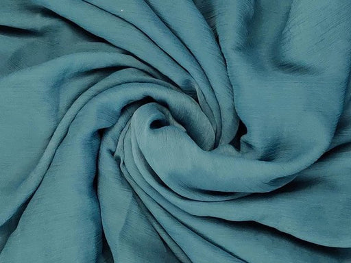 Blue Green Viscose Chiffon Fabric