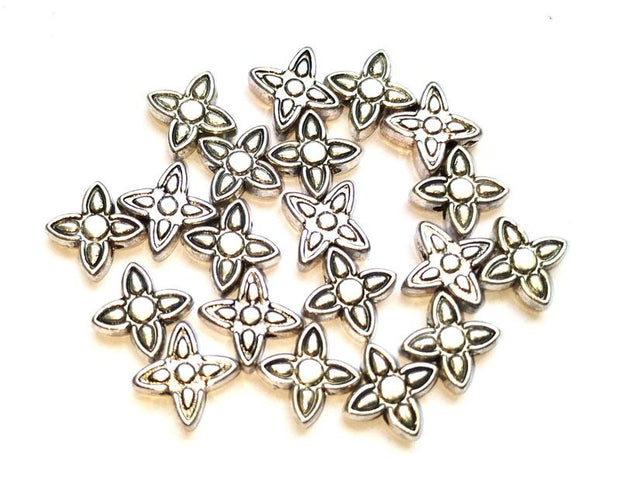 Silver German Silver Floral Charms