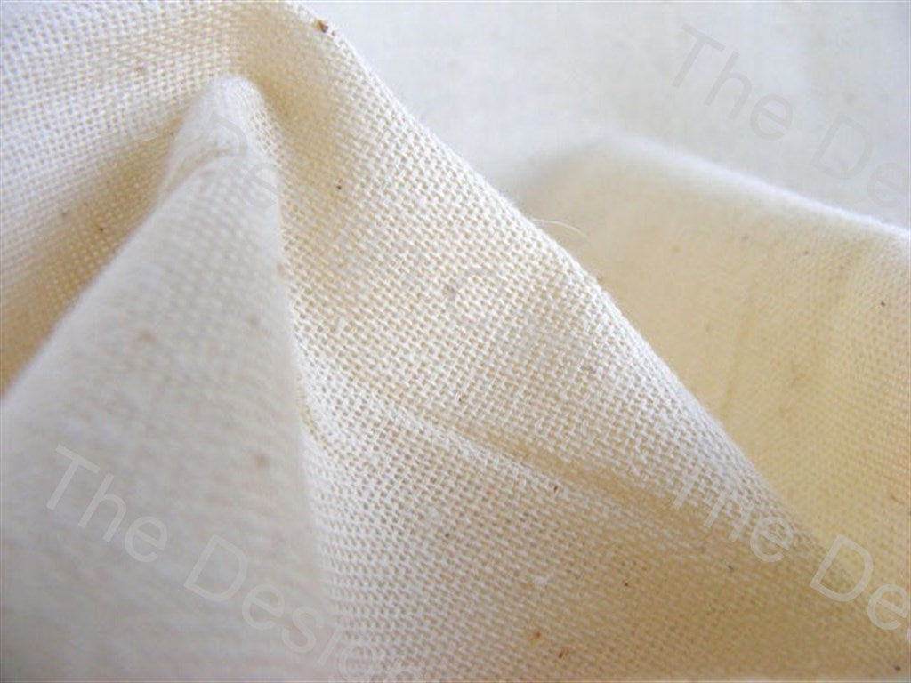 Cream / Off White Plain Dyeable Cambric Greige Fabric