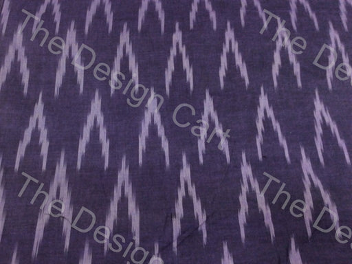 Deep Purple White Alternate Arrows Design Cotton Ikat Fabric - The Design Cart
