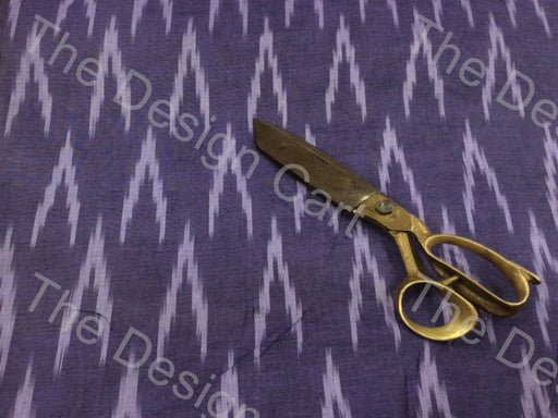Deep Purple White Alternate Arrows Design Cotton Ikat Fabric
