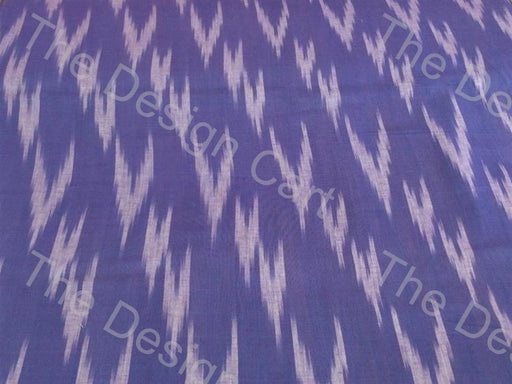 Light Purple White Inclined Down Arrows Design Cotton Ikat Fabric