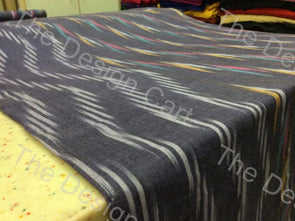 Multicolour Zigzag Waves Design Cotton Ikat Fabric